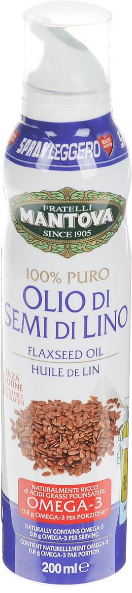 Fratelli Mantova масло льняное спрей, 200 мл0120710Масло Льняное в виде спрея для более удобного дозирования