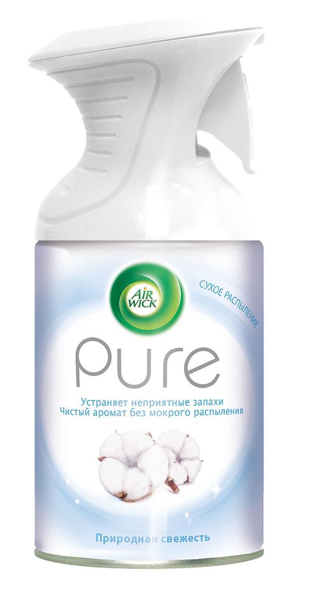 Освежитель воздуха AirWick Pure, природная свежесть, 250 мл391602Новый освежитель воздуха Air Wick Pure не содержит воды и эффективно устраняет неприятные запахи без мокрого распыления. Используйте освежители воздуха Air Wick Pure в каждой комнате, наполняя ваш дом свежими и приятными ароматами. Инструкция по использованию: держа баллон регулярно, нажать на курок до упора и распылить аэрозоль от себя к центру комнаты. Внимание! Прочитать внимательно этикетку перед использованием. Хранить в недоступном для детей и животных месте. Использовать с осторожностью при повышенной чувствительности к парфюмерным отдушкам. Освежители воздуха не являются заменой надлежащих мер гигиены. Использовать только в хорошо проветриваемых помещениях. Меры предосторожности: баллон находится под давлением. При нагревании возможен разрыв баллона. Предохранять от воздействия прямых солнечных лучей и нагревания выше 50 градусов. Огнеопасно! Не распылять вблизи открытого огня, раскаленных предметов, тепла или включенного электрооборудования. Не курить. Срок годности: 24 месяца.