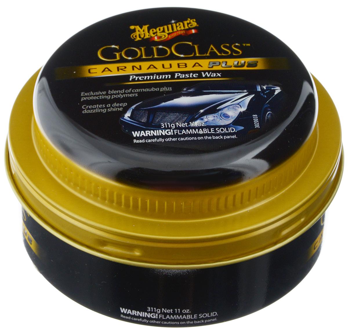 Полироль автомобильная Meguiars Gold Class, паста, 325 гRC-100BWCВысокоэффективная автомобильная полироль элитной линии Gold Class прекрасно очищает поверхность, удаляет тонкие царапины. Легкое в использовании средство. Придает цвету интенсивность, поверхности автомобиля - ослепительный зеркальный блеск. Содержит полирующие масла, уменьшающие вред от воздействия ультрафиолетового излучения. Создает надежное долговечное полимерное защитное покрытие.Товар сертифицирован.