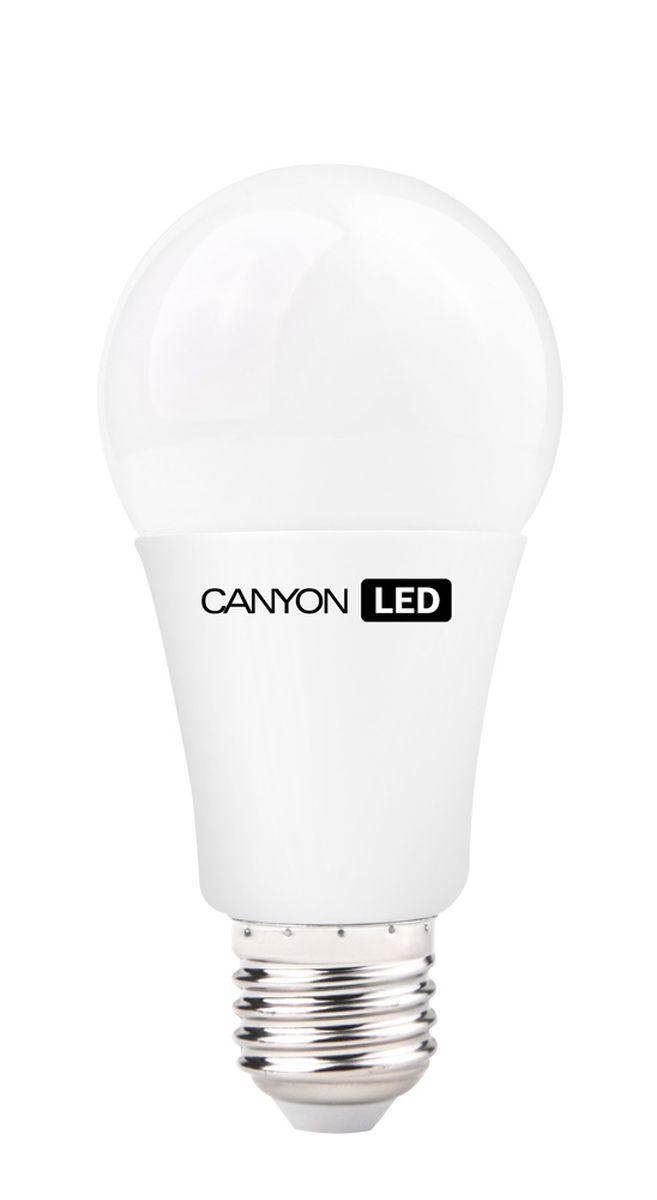 Набор светодиодных ламп Canyon LED AE27FR12W230VW, 10 шт.C0044702CANYON LED A60 E27 12W 220V 2700K, набор 10шт.Лампочка традиционной формы, излучает мягкий рассеянный свет. Имеет уникальный LED модуль COB ICE CANYON, позволяющий избежать чрезмерного нагревания. Предназначена для установки в светильниках с патроном E27. Доступна с матовой колбой. Чрезвычайно низкое энергопотребление позволяет сэкономить до 90% энергии в сравнении с традиционными лампами накаливания