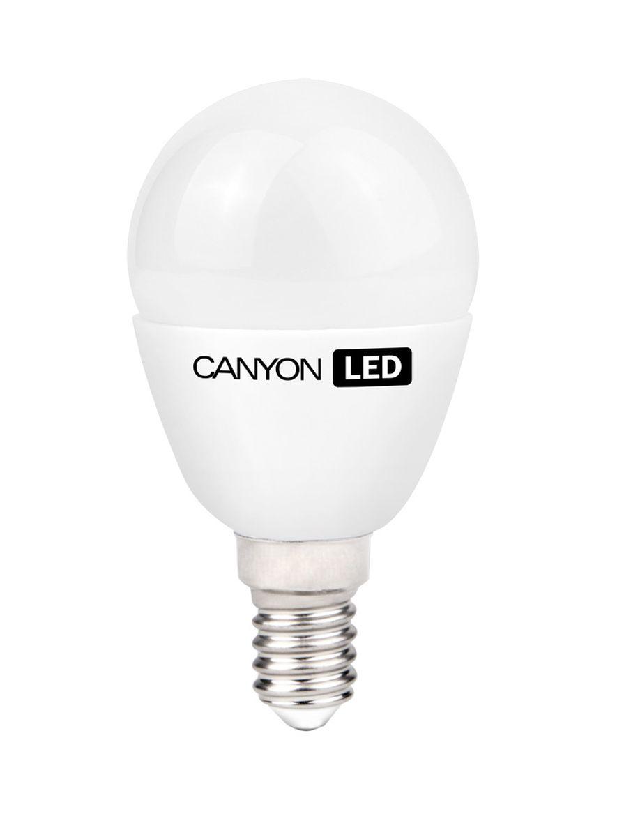 Набор светодиодных ламп Canyon LED PE14FR6W230VW, 10 шт.C0044702CANYON LED P45 E14 6W 220V 2700K, набор 10шт.Маленькая лампочка шаровидной формы имеет компактные габариты и представлена с разным видами цоколя. Лампа излучает теплый свет и обеспечивает значительную экономию энергии, что минимизирует затраты на обслуживание. Доступна с матовой и прозрачной колбой