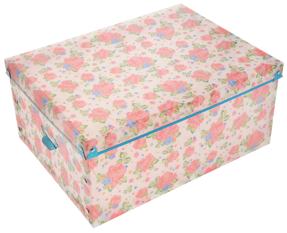 Коробка для xранения Miolla Цветы, 30 x 40 x 18 см короб для xранения miolla круги 30 x 40 x 18 см sbb 04