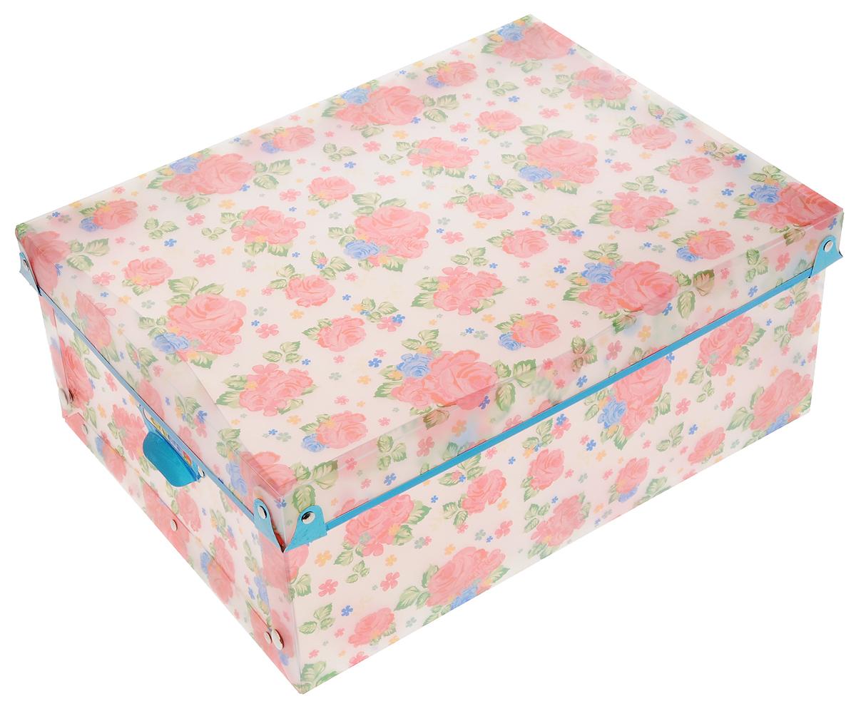 Коробка для xранения Miolla Цветы, 32,5 x 24,5 x 14 см650455Короб для хранения Miolla Цветы, изготовленный из прочного полипропилена, предназначен для хранения различных мелочей в доме, офисе или на даче. Короб оформлен цветочным рисунком, что придает ему нежный внешний вид. Он легко собирается и скрепляется при помощи кнопок. Вместительный короб для хранения создан, чтобы навести порядок в вашем доме. Он бережно сохранит важные документы или просто дорогие сердцу мелочи. Оригинальный дизайн прекрасно подойдет для любого интерьера.