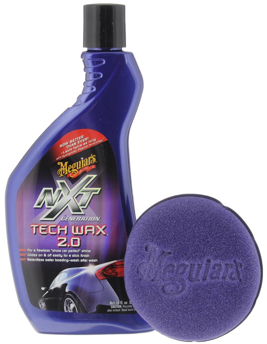 Полироль автомобильная Meguiars NXT Generation Tech Wax. 2.0, с губкой, 532 млRC-100BPCАвтомобильная полироль Meguiars NXT Generation Tech Wax. 2.0 на основе синтетических полимеров создает стойкое защитное покрытие, подчеркивает глубину цвета, маскирует небольшие дефекты, придает поверхности роскошный влажный блеск. Идеально подходит для всехвидов покрытий, включая лаковые. Защищает поверхность от УФ-излучения. Легкое в использовании средство. В комплект входит поролоновая губка. Размер губки: 10 х 10 х 3,5 см. Товар сертифицирован.