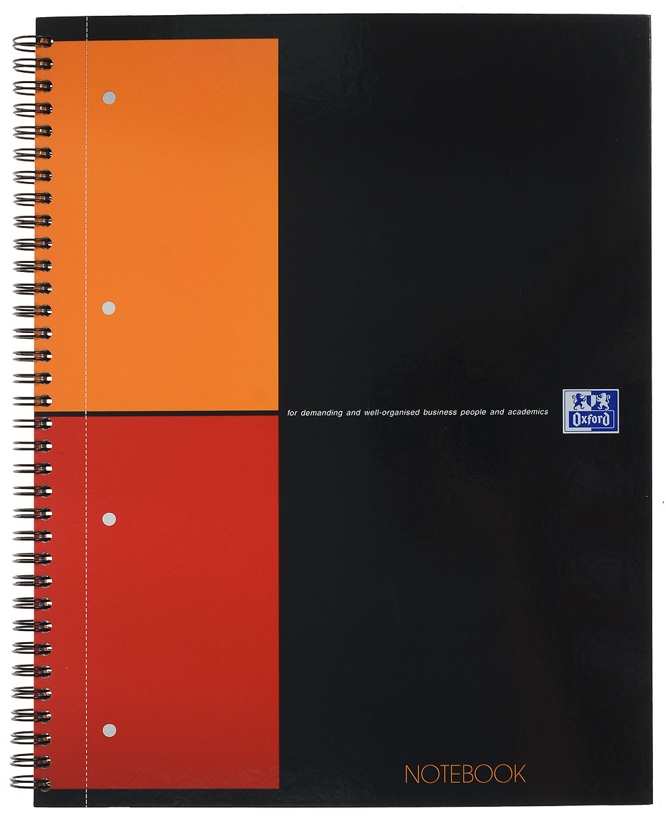 Oxford Тетрадь International Notebook 80 листов в клетку формат А4+72523WDПрактичная тетрадь Oxford International Notebook отлично подойдет для офиса и учебы. Тетрадь формата А4+ состоит из 80 белых листов с четкой яркой линовкой в клетку.Обложка тетради выполнена из плотного глянцевого картона.Вертикальная микроперфорацияпозволяет аккуратно отрывать ненужные листы и подшивать их в папки.