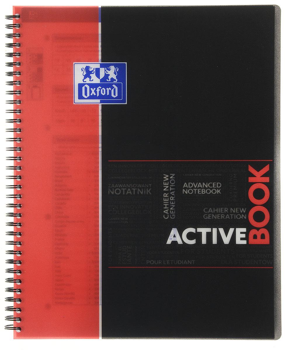 Oxford Тетрадь Sos Notes Activebook 80 листов в клетку цвет красныйна 400019520, 271400Красивая и практичная тетрадь Oxford Sos Notes Activebook отлично подойдет для ведения и хранения заметок. Тетрадь формата А4+ состоит из 80 листов белой бумаги и четкой яркой линовкой в клетку. Обложка тетради выполнена из плотного пластика черно-красного цвета.Благодаря специальным меткам на каждой странице и бесплатному приложению SOS Notes для вашего телефона или планшета, вы сможете всегда легко перенести ваши записи и зарисовки с бумажной страницы в смартфон или на компьютер.Это прекрасное сочетание тетради и органайзера, так как включает в себя внутренний кармашек для хранения документов и закладку-линейку со справочной информацией.