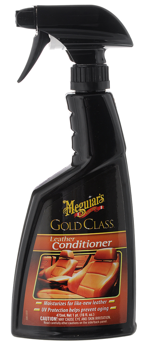 Кондиционер для кожи Meguiars Gold Class, 473 мл150202Кондиционер Meguiars Gold Class увлажняет, защищает и ухаживает за кожаной обивкой слона. Придает натуральной коже роскошный внешний вид и эластичность. Защищает кожу от высыхания, преждевременного старения и растрескивания благодаря содержанию в составе УФ-фильтра. Товар сертифицирован.