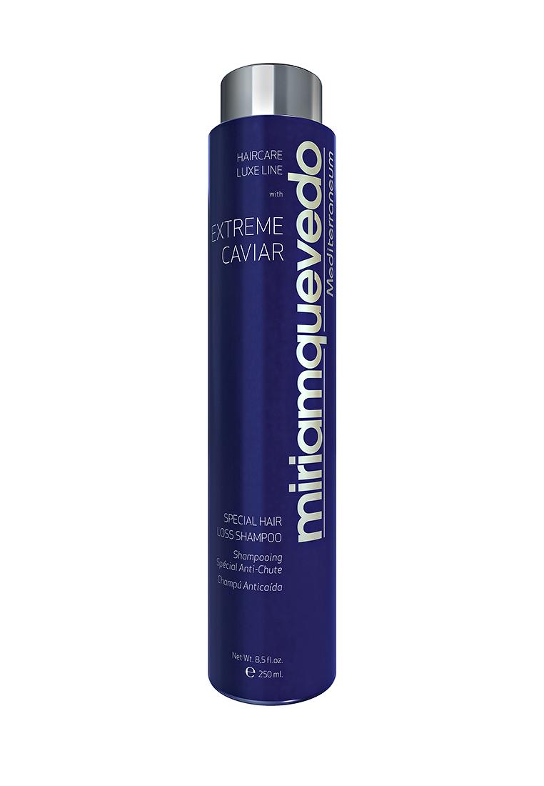 Miriam Quevedo Шампунь против выпадения волос с экстрактом черной икры (Extreme Caviar Special Hair Loss Shampoo) 250 млE2082200Для волос, ослабленных и склонных к выпадению, выбор этого шампуня станет верным решением. Составляющие компоненты наполняют энергией и силой ослабленные волосы. Экстракты черной икры и изофлавоны усиленно действуют на метаболическую активность волосяных фолликул, увеличивая микроциркуляцию и тем самым предупреждая выпадение волос. Сочетание 10 витаминов, протеинов кератина и коллагена оказывают видимый эффект на кожу головы, восстанавливая ее, а волосам дарит объем, шелковистость и природную мягкость.