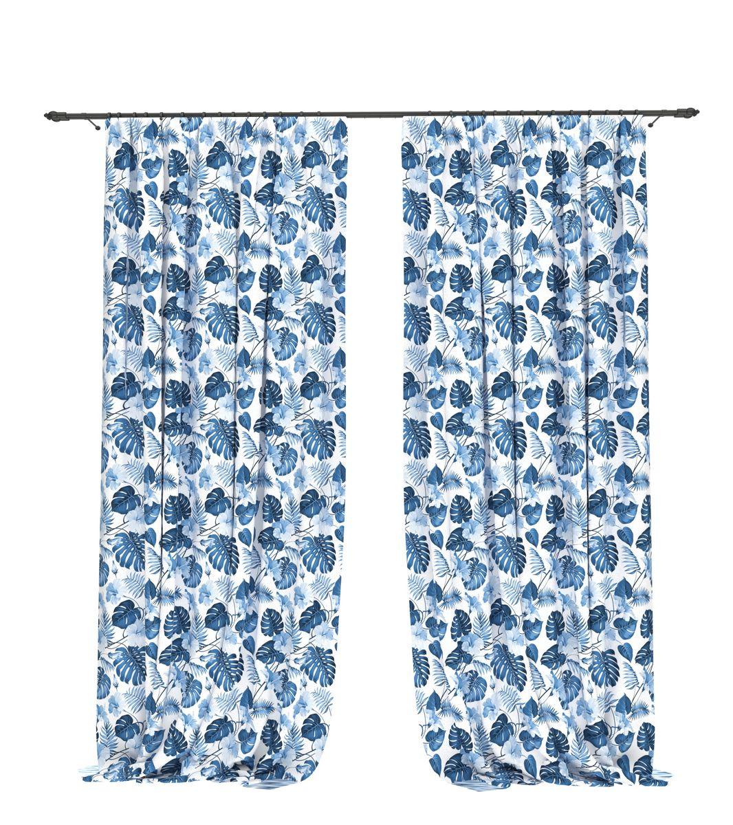 Комплект фотоштор Bellino Home Гиоцинтовая монстера, высота 260 см. 05515-ФШ-ГБ-0011004900000360Комплект фотоштор BELLINO HOME, коллекция Тропики. Рожденный вдоль экватора тропический стиль смешивает множество культур и традиций в единое целое. Эта коллекция подобно котлу, в котором варятся туземные материалы, элегантная простота, экзотические мотивы и море солнечного света. Будто бы вечные каникулы: здесь замедляется время и замирает суета мегаполиса. Богатое разнообразие флоры и фауны способно преобразить атмосферу любого интерьера. Крепление на карниз при помощи шторной ленты на крючки.В комплекте: Портьера: 2 шт. Размер (ШхВ): 145 см х 260 см. Рекомендации по уходу: стирка при 30 градусах гладить при температуре до 150 градусов Изображение на мониторе может немного отличаться от реального.