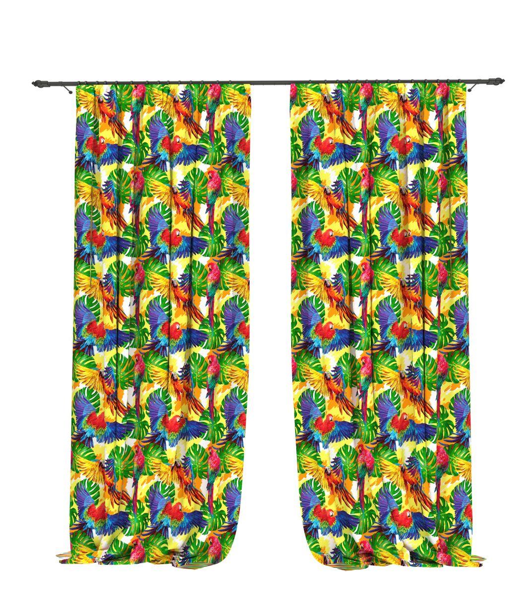 Комплект фотоштор Bellino Home Амазоны, высота 260 см. 05519-ФШ-ГБ-001шсг_11576Комплект фотоштор BELLINO HOME, коллекция Тропики. Рожденный вдоль экватора тропический стиль смешивает множество культур и традиций в единое целое. Эта коллекция подобно котлу, в котором варятся туземные материалы, элегантная простота, экзотические мотивы и море солнечного света. Будто бы вечные каникулы: здесь замедляется время и замирает суета мегаполиса. Богатое разнообразие флоры и фауны способно преобразить атмосферу любого интерьера. Крепление на карниз при помощи шторной ленты на крючки.В комплекте: Портьера: 2 шт. Размер (ШхВ): 145 см х 260 см. Рекомендации по уходу: стирка при 30 градусах гладить при температуре до 150 градусов Изображение на мониторе может немного отличаться от реального.