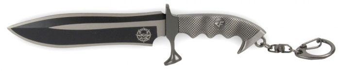 Брелок-стальной нож Ножемир, общая длина 15 см. E-200E-200Нож-брелок - стильный необычный аксессуар. Нож изготовлен из металла. Клинок ножа обоюдоострый.Размер: 150 х 35 мм.