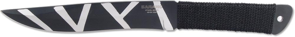 Нож метательный Ножемир Баланс, нержавеющая сталь, с чехлом, общая длина 25,5 см. M-112-2M-112-2Метательный нож Ножемир Баланс выполнен из цельного куска стали. Такая конструкция обеспечивает ножу высокую прочность и максимальную надежность при метании на большие расстояния. В комплекте с ножом поставляется удобный нейлоновый чехол для ношения на поясе.Общая длина ножа: 25,5 см.