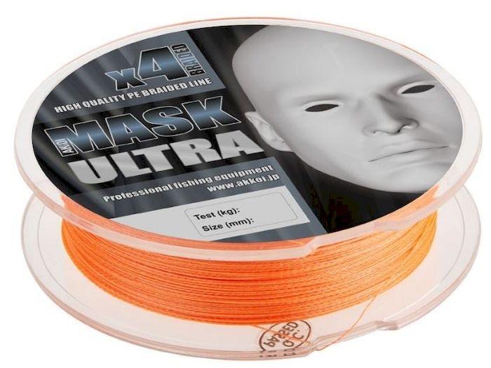 Леска плетеная (шнур) Akkoi Mask Ultra X4-100, цвет: оранжевый (orange), 4 нити, d0,14 мм, нагрузка 5,44 кг0028114Леска плетеная Akkoi Mask Ultra X4-100 (orange) d0,14mm / 5,44 кг. Дословно ultra light переводится как – сверхлегкий. Этот класс ловли спиннингом очень популярен во всем мире. Во главе угла стоит уменьшение веса во всем: в удилище, катушке, приманках и снастях. Но, зачастую, бороться приходиться с трофейной рыбой, отсюда предъявляются повышенные требования к прочности и надежности снастей, а это ведет к высокой стоимости. Плетеный шнур Akkoi Mask Ultra создан с учетом всех требований этого класса. Материал Super PE с высокой плотностью плетения имеет специальную обработку для большего скольжения и максимально устойчив к абразивному воздействию. Шнур четырехжильный, в размотке 100 метров и двух вариациях цветов. Диапазон диаметров тоже разработан с учетом класса ловли ультралайт - лайт — от 0,06 до 0,20 мм. Ультралегкий, ультрапрочный, ультраклассный и ультрадоступный, но главное — имеет самое хорошее соотношение цена - качество в своем сегменте.