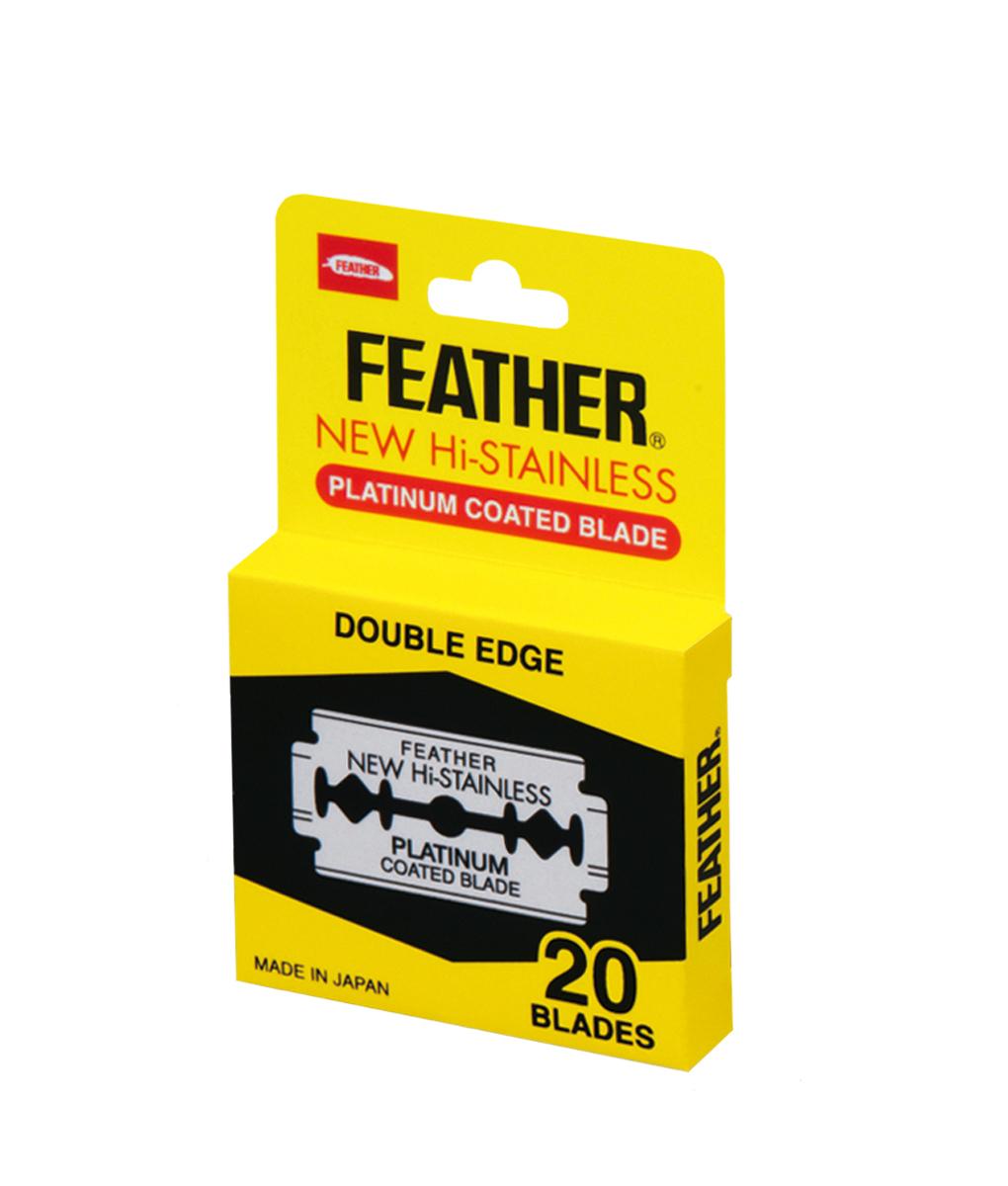 Feather Двусторонние лезвия 81S-2, 20 штук2101-WX-01Обоюдоострые лезвия из высококлассной нержавеющей стали с платиновым покрытием. В диспенсере 20 лезвий. Подходят не только для бритв Feather.