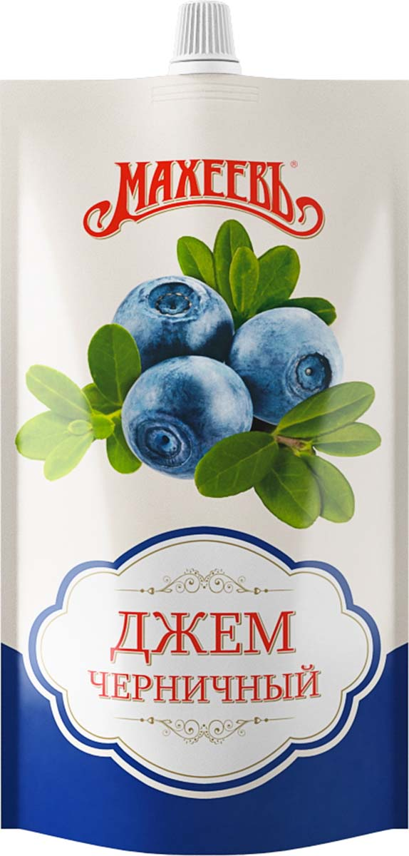Махеевъ джем черничный, 300 г0120710Ароматный джем с насыщенным вкусом черники придется по вкусу не только взрослым, но и детям.