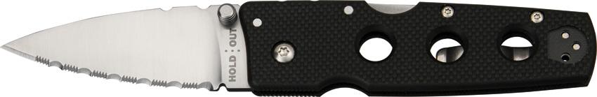 Нож складной Cold Steel Hold Out III, общая длина 17,4 смS7303Складной нож Cold Steel Hold Out III, выполненный в классическом стиле, станет отличным подарком для рыбака, охотника или человека, который ценит отдых на природе. Модель крайне легкая и отличается характерным плоским и заостренным лезвием. Нож легко помещается в рукаве или потайном кармане, чулке.Изделие оснащено оригинальной эргономичной рукоятью из прочного пластика G10. Лезвие ножа изготовлено из высококачественной нержавеющей стали AUS 8.Размер ножа в открытом виде: 17,4 см.Толщина обуха: 3 мм.Длина ножа (в сложенном виде): 9,8 см.
