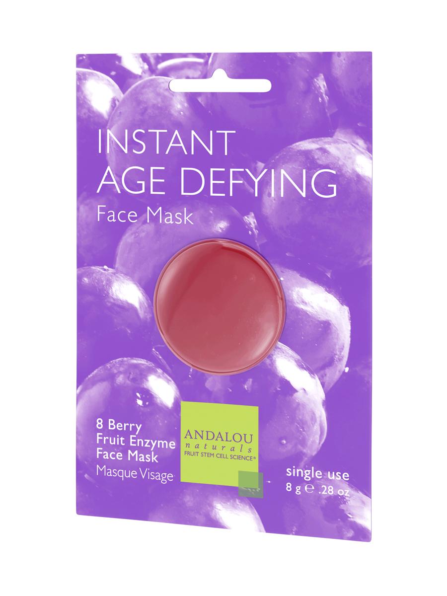 ANDALOU Маска для лица омолаживающая Энзимы клюквы и яблока, 6 шт x 8 г4627089432544Энзимы комплекса 8 ягод, стволовые клетки фруктов и Ресвератрол Q10 мгновенно освежают словно фруктовый сок, надолго укрепляют кожу коллагеном и эластином. Энзимы мягко растворяют увядшие, сухие поверхностные клетки, чтобы высвободить настоящую красоту вашей кожи.