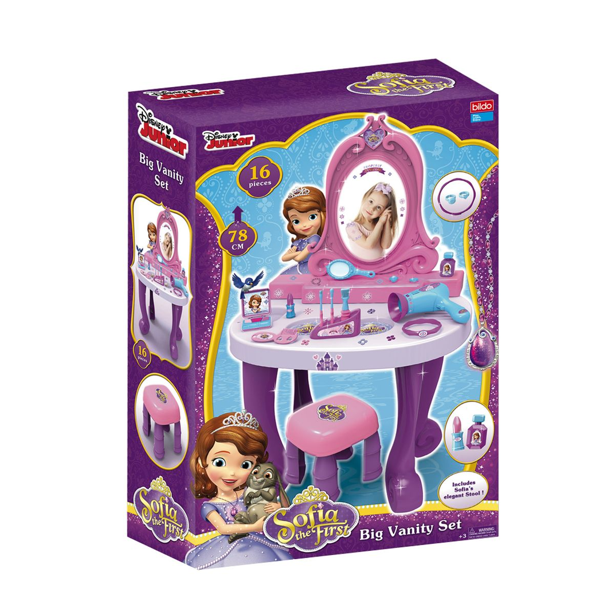 Bildo Игровой набор Парикмахерская Принцесса София 16 предметов - Сюжетно-ролевые игрушки