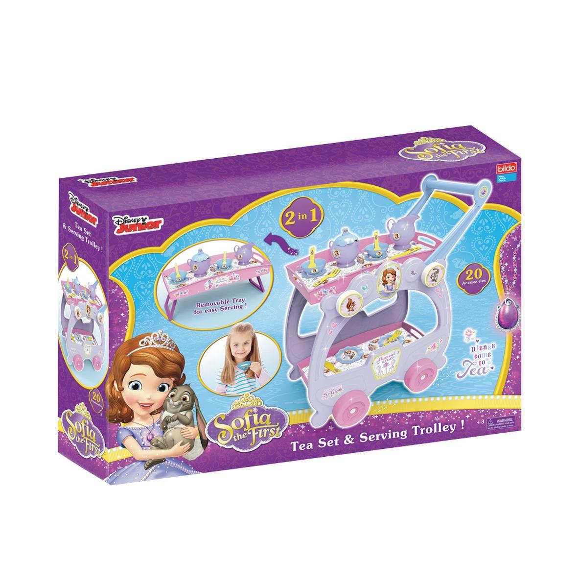 Bildo Игрушечный набор посуды Принцесса София 2 в 1 - Сюжетно-ролевые игрушки