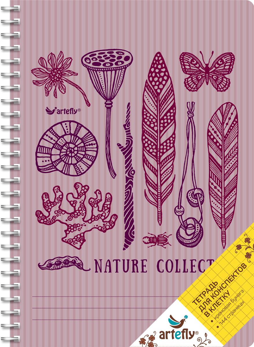 Artefly Тетрадь Nature Collection 72 листа в клетку72523WDТетрадь в клетку для ведения записей. Красивая и яркая обложка раскрасит твои студенческие будни, такую тетрадь удобно использовать для конспектов. Приятная бумага кремового цвета не оставит тебя равнодушным.