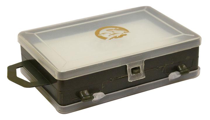 Коробка для хранения мелочей Три кита, двухсторонняя, 11,3 х 7,5 х 3,2 смV4140/1SКоробка Три кита прекрасно подойдет для хранения и транспортировки рыболовных снастей, аксессуаров для рукоделия и других мелочей. Коробка имеет 1 отделение и 11 секций, которые плотно закрываются прозрачными крышками. Удобный замок-защелка обеспечивает надежное закрывание органайзера.