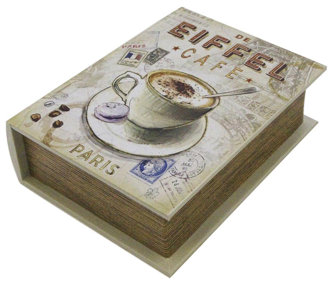 Шкатулка для рукоделия Кафе в Париже, 20 х 15 х 6 см139525Шкатулка Кафе в Париже изготовлена из МДФ, картона и холщовой ткани и оснащена крышкой. Изделие декорировано изображением кофейной чашки. Внутри шкатулка обтянута тканью коричневого цвета. Изящная шкатулка с ярким дизайном предназначена для хранения мелочей, принадлежностей для шитья и творчества и других аксессуаров. Она красиво оформит интерьер комнаты и поможет хранить ваши вещи в порядке.
