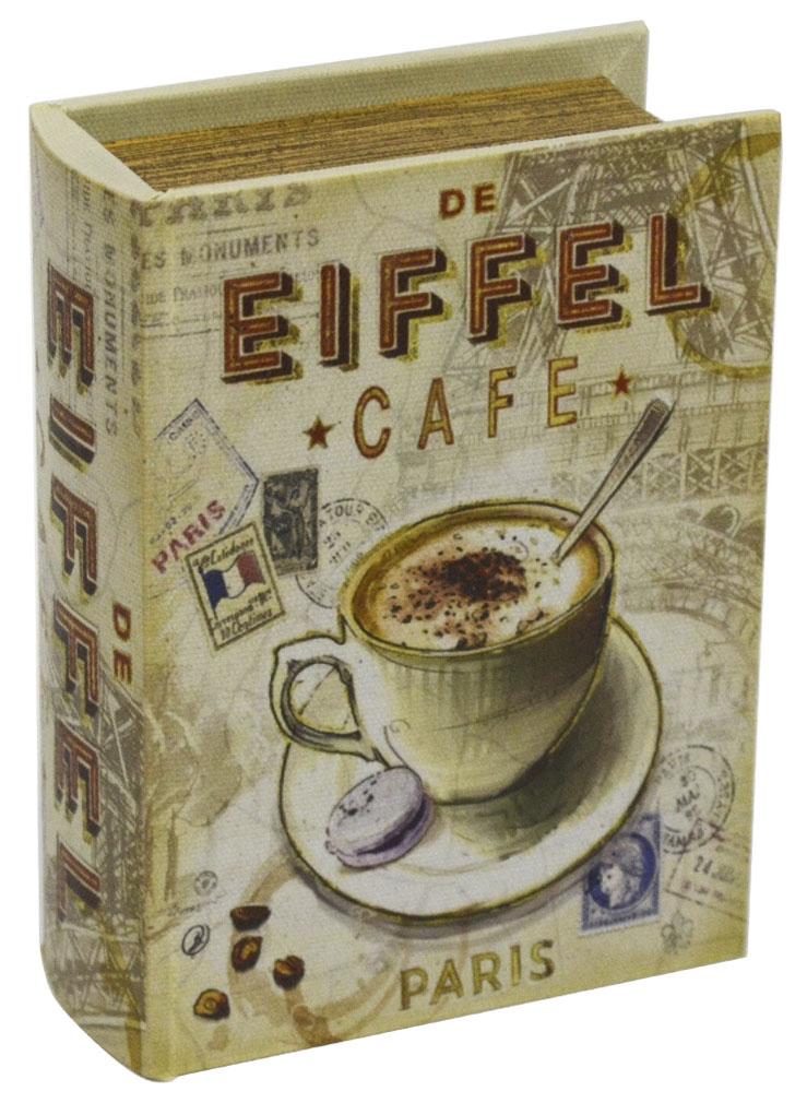 Шкатулка для рукоделия Кафе в Париже, 15 х 11 х 4,5 смRG-D31SШкатулка Кафе в Париже изготовлена из МДФ, картона и холщовой ткани и оснащена крышкой. Изделие декорировано изображением кофейной чашки. Внутри шкатулка обтянута тканью коричневого цвета. Изящная шкатулка с ярким дизайном предназначена для хранения мелочей, принадлежностей для шитья и творчества и других аксессуаров. Она красиво оформит интерьер комнаты и поможет хранить ваши вещи в порядке.