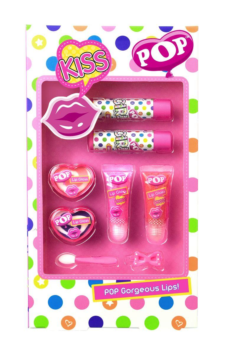 Markwins Игровой набор детской декоративной косметики для губ POPGESS-306Состав набора: блески для губ в футлярах 2 шт., блески для губ в баночках 2 шт., блески для губ в тубах 2 шт., аппликатор 1 шт., заколочка для волос 1 шт.
