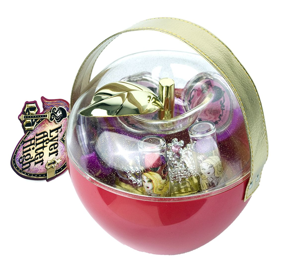 Markwins Игровой набор детской декоративной косметики Ever After High в яблоке15032030Состав набора: блески для губ 6 оттенков, губные помады в футлярах 2 шт., тиара 1 шт.