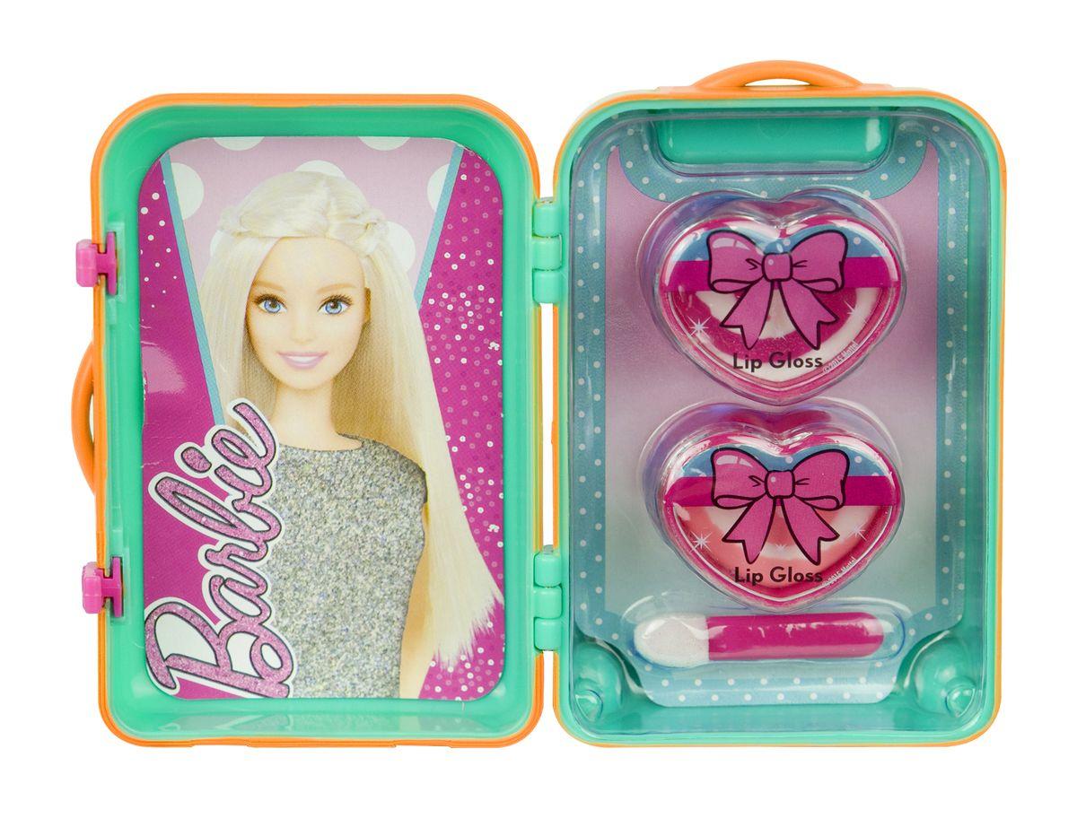 Markwins Игровой набор детской декоративной косметики Barbie 96002511301210С набором декоративной косметики Markwins девочка сможет создать себе яркий, неповторимый образ! Блеск совершенно безопасен для детской кожи, легко наносится и смывается. В набор входят два блеска для губ и удобный аппликатор для их нанесения.Детская косметика Markwins создана с соблюдением самых высоких европейских стандартов безопасности. Продукция не содержит парабенов, метилизотиазолинона, пальмового масла. Предназначена для детей от 7 лет. Несмотря на высокое качество продукции и ее общую гипоаллергенность, производитель рекомендует проверить индивидуальную реакцию на косметику перед ее использованием. Просто нанесите на кожу немного косметики и подержите 30-60 минут. Если на коже появится покраснение, следует прекратить использование продукции. Эта аллергическая реакция проявляется очень редко и зависит от индивидуальных особенностей организма.Условия хранения: хранить при температуре от +5 до +25 градусов; не допускать попадания прямых солнечных лучей.