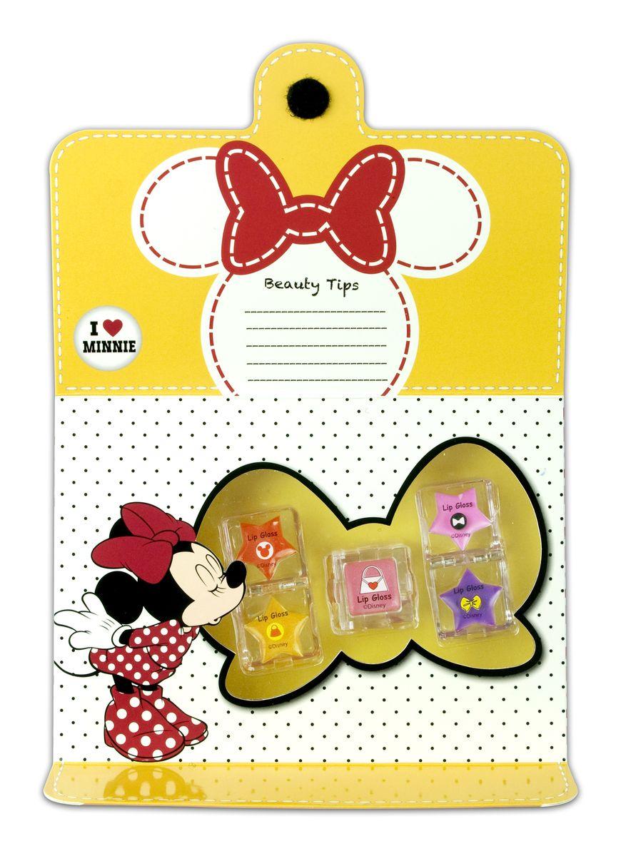 Markwins Игровой набор детской декоративной косметики для губ Minnie1301210Состав набора: блески для губ 5 оттенков в баночках.
