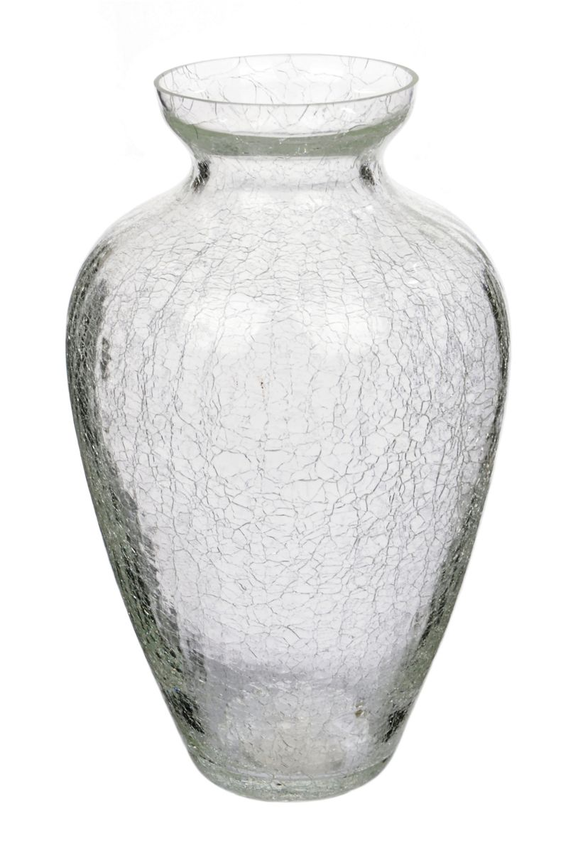 Ваза Nina Glass Амбрэ, кракелюр, прозрачныйNG92-004_белыйПосуду нельзя использовать в СВЧ и мыть в ПММ.