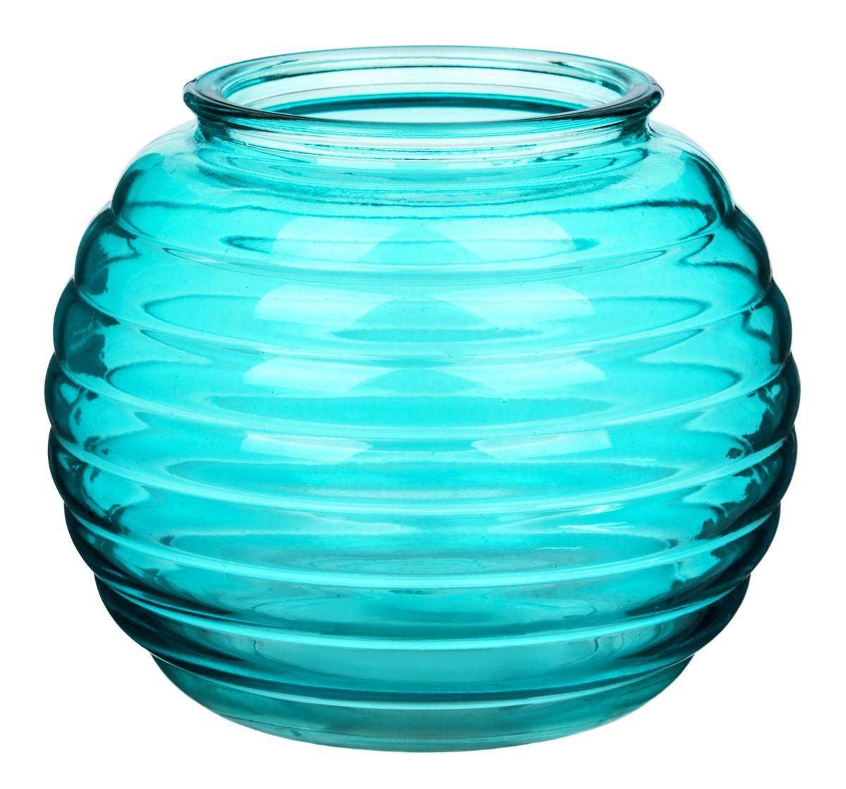 Ваза Nina Glass Зара, цвет: лазурныйFS-91909Посуду нельзя использовать в СВЧ и мыть в ПММ.