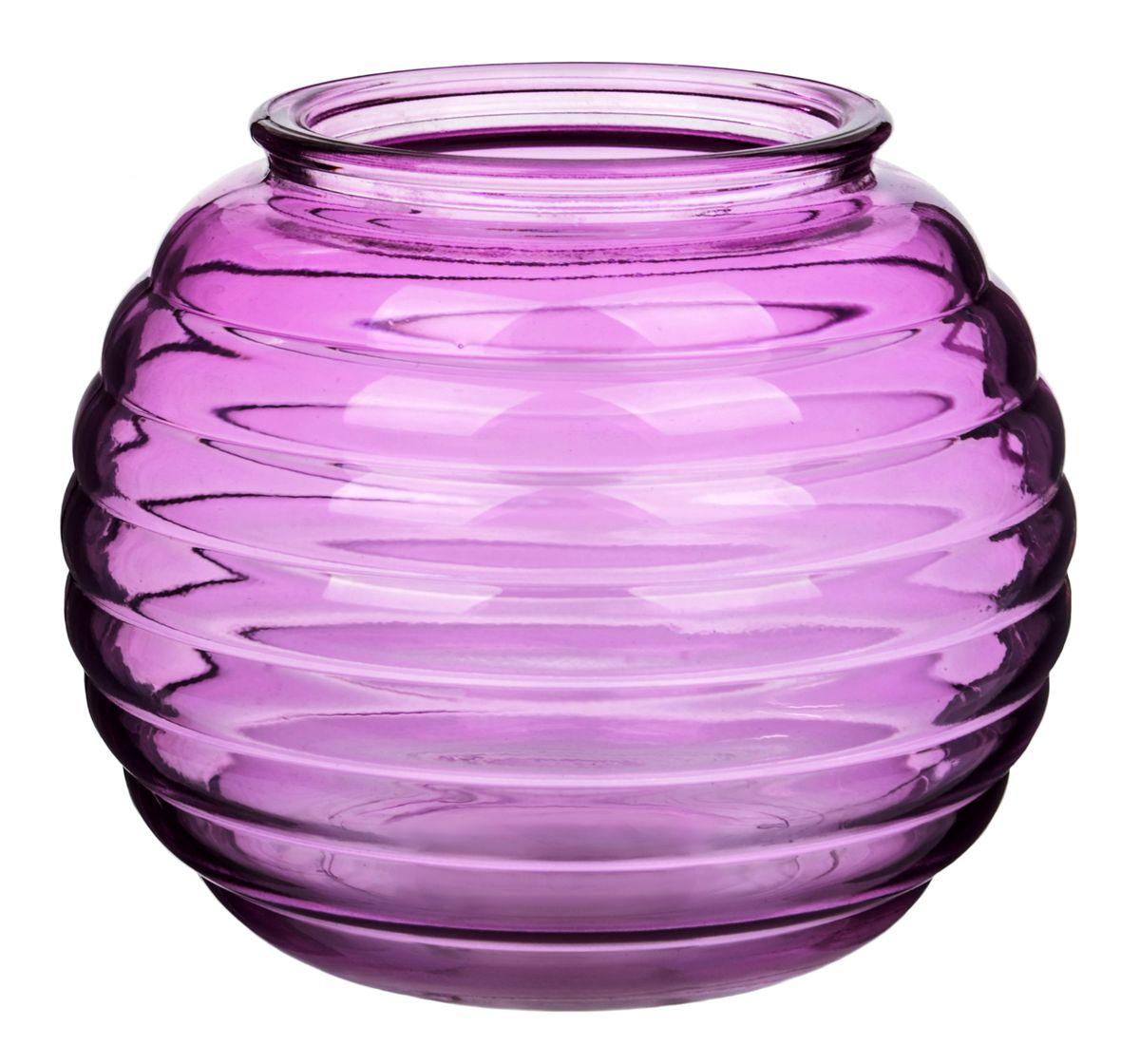 Ваза Nina Glass Зара, цвет: сиреневыйNG92-006_сиреневыйПосуду нельзя использовать в СВЧ и мыть в ПММ.