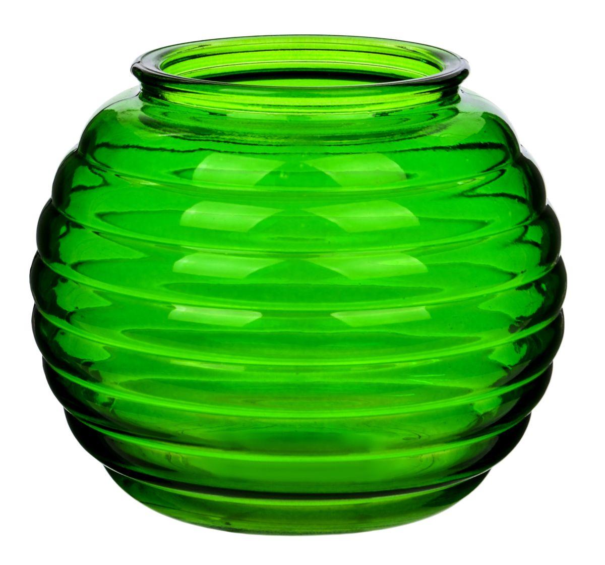 Ваза Nina Glass Зара, цвет: зеленыйNG92-006_зеленыйПосуду нельзя использовать в СВЧ и мыть в ПММ.