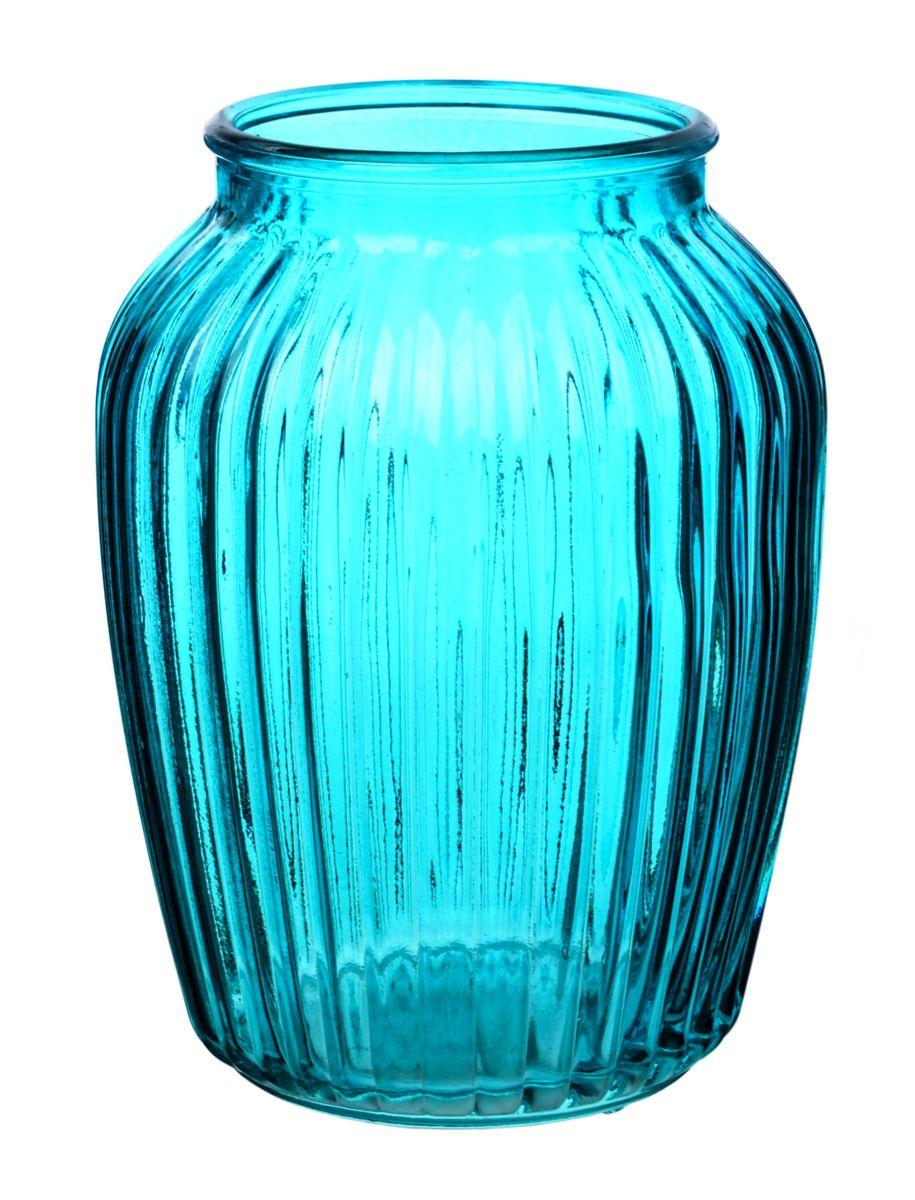 Ваза Nina Glass Луана, цвет: бирюзовый, высота 19,5 смNG92-021M_бирюзовыйВаза Nina Glass Луана выполнена из высококачественногостекла и имеет изысканный внешний вид. Такая ваза станет ярким украшением интерьера и прекрасным подарком к любому случаю. Не рекомендуется мыть в посудомоечной машине.Высота вазы: 19,5 см.