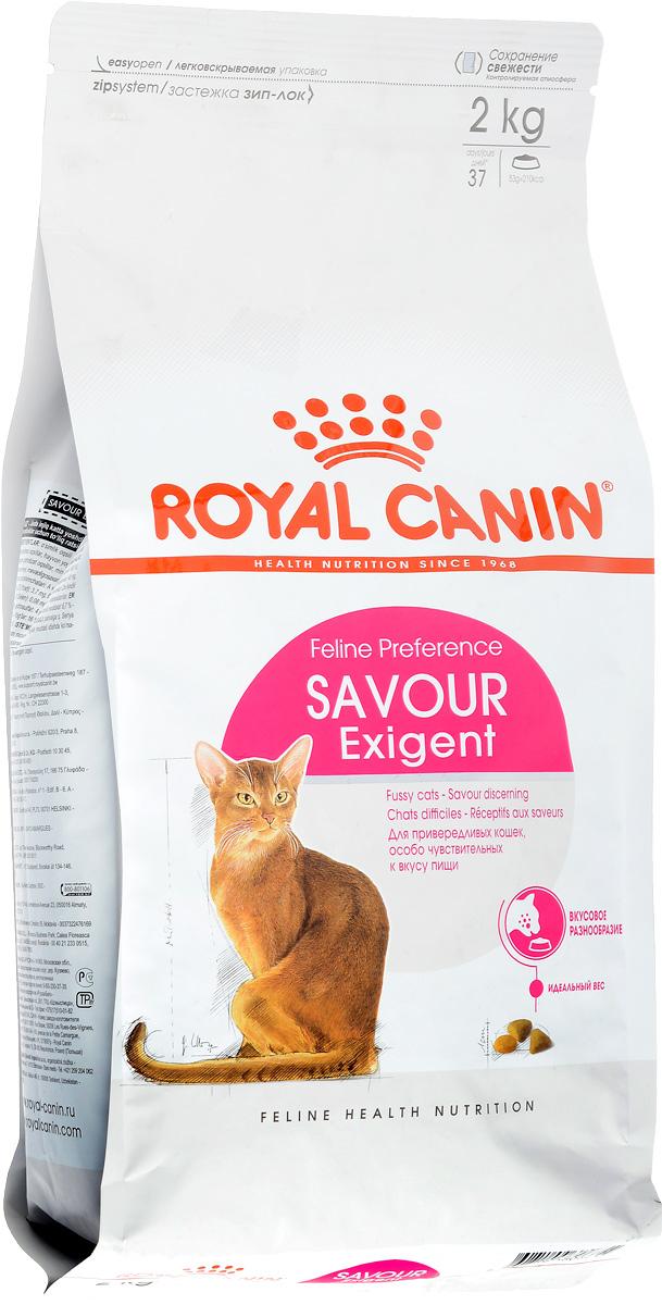 Корм сухой Royal Canin Exigent 35/30 Savoir Sensation для кошек, привередливых к вкусу продукта, 2 кг60596Royal Canin Exigent 35/30 Savoir Sensation - это полнорационный сухой корм для кошек в возрасте старше 1 года, привередливых к вкусу продукта.Узнайте пищевые предпочтения вашей кошки! Наличие индивидуальных пищевых предпочтений означает, что каждая кошка по-своему интерпретирует аромат, текстуру, вкус корма и ощущения после его потребления. Каждый корм семейства Exigent, помимо вкусовых качеств, обладает также рядом других оригинальных, специфических свойств.Чувствительность к вкусу продукта. Exigent 35/30 Savoir Sensation - это корм для с двумя типами крокет, различных по форме, текстуре и составу, обладающих взаимодополняющими свойствами.Поддержание идеального веса. Особая рецептура корма обладает умеренной калорийностью, что помогает поддерживать идеальный вес кошки.Забота о красоте шерсти. Комплекс входящих в состав корма активных питательных веществ, включающий биотин и масло огуречника аптечного, способствует красоте шерсти кошки.Состав: кукуруза, дегидратированное мясо птицы, злаки, изолятрастительныхбелков, животные жиры, гидролизат белков животногопроисхождения, растительная клетчатка, минеральные вещества, свекольныйжом,дрожжи, соевое масло, фруктоолигосахариды,экстрактпаприки, масло огуречника аптечного.Добавки (на 1 кг): Питательные добавки: Витамин A: 15700 ME, Витамин D3: 800 ME, Железо: 38 мг, Йод: 2,9 мг, Марганец: 49 мг, Цинк: 162 мг, Ceлeн: 0,1 мг.Товар сертифицирован.