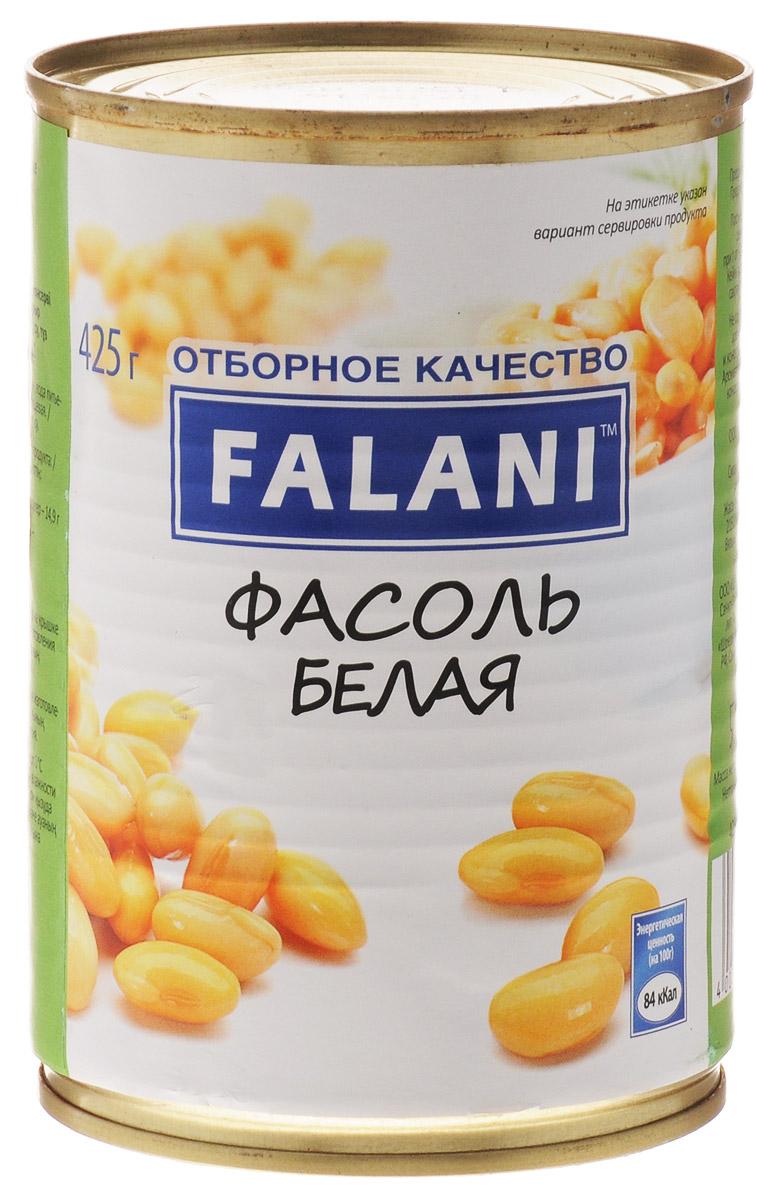 Falani фасоль белая, 425 г4002442808868Белая фасоль Falani в натуральной заливке. Питательный и калорийный продукт, богатый углеводами, белками и клетчаткой.