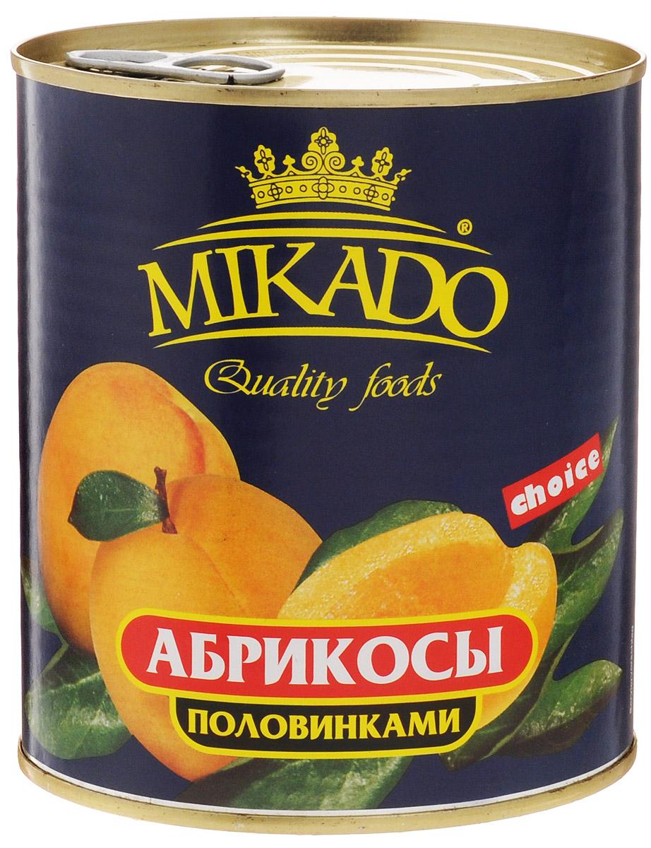 Mikado Абрикосы половинками очищенные в сиропе, 850 мл mikado mikado l 41 61 d 7