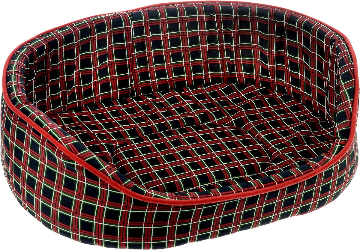 Лежак для животных Каскад Клетка. № 5, цвет: красный, черный, зеленый, 58 х 46 х 17 см0120710Лежак Каскад Клетка. № 5, выполненный из высококачественного текстиля, обязательно понравится вашему питомцу.Высокие борта обеспечат вашему любимцу уют, ему сразу же захочется забраться на лежак, там он сможет отдохнуть и подремать в свое удовольствие. Мягкий лежак станет излюбленным местом вашего питомца, подарит ему спокойный и комфортный сон, а также убережет вашу мебель от многочисленной шерсти.