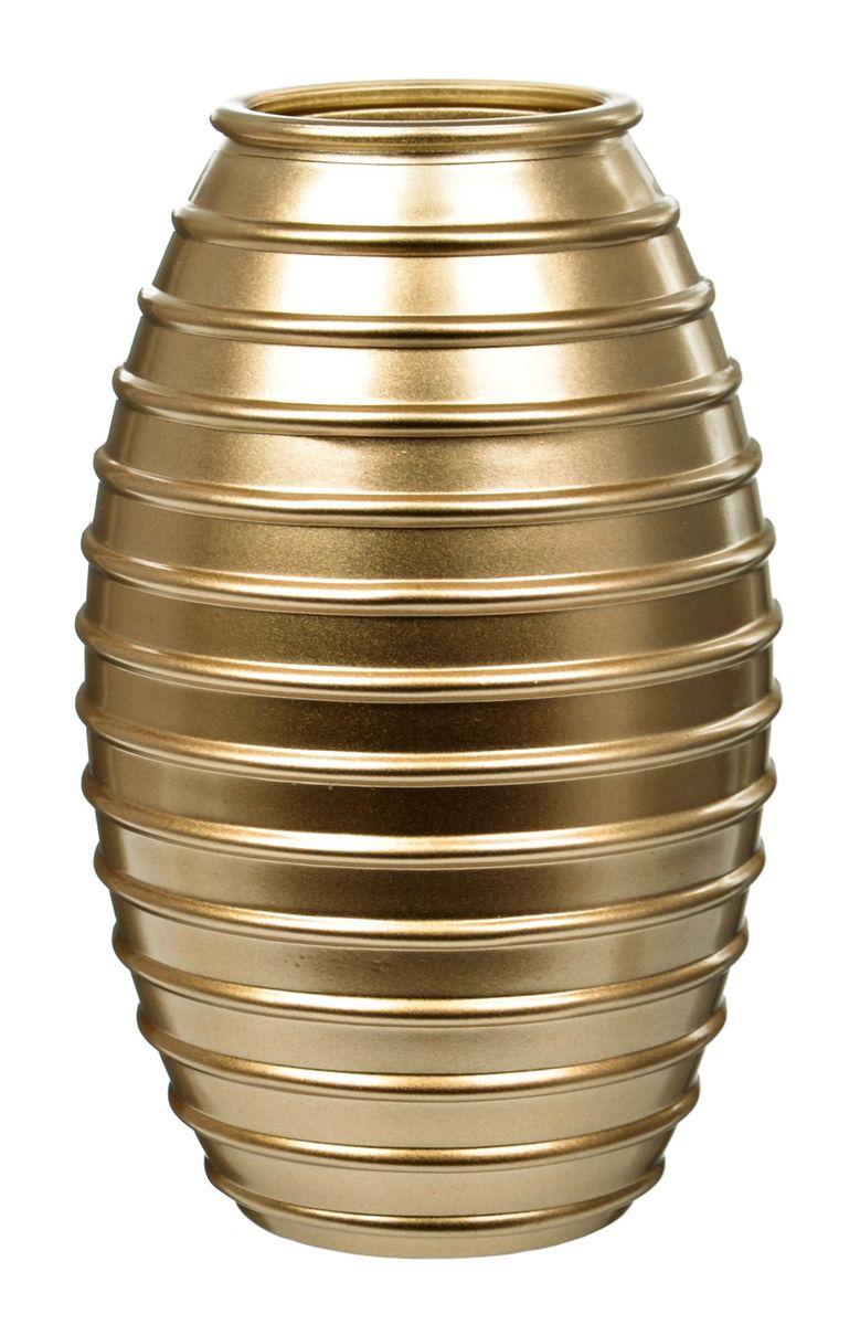 Ваза Nina Glass Лайт, цвет: золотой металлик, высота 19,5 смFS-91909Ваза Nina Glass Лайт выполнена из высококачественногостекла и имеет изысканный внешний вид. Такая ваза станет ярким украшением интерьера и прекрасным подарком к любому случаю. Не рекомендуется мыть в посудомоечной машине.Высота вазы: 19,5 см.