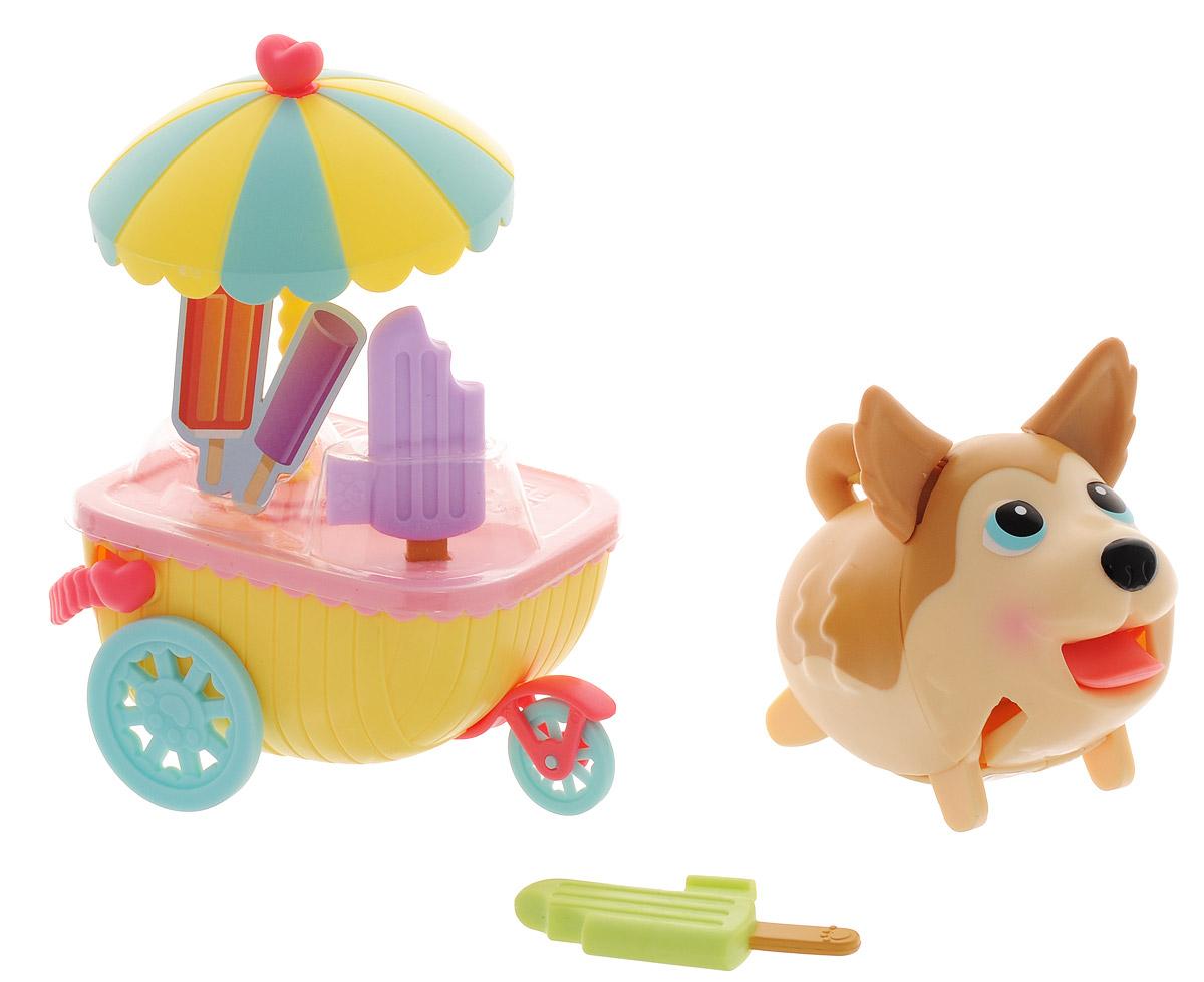 Chubby Puppies Набор фигурок Хаски и тележка с мороженым - Фигурки