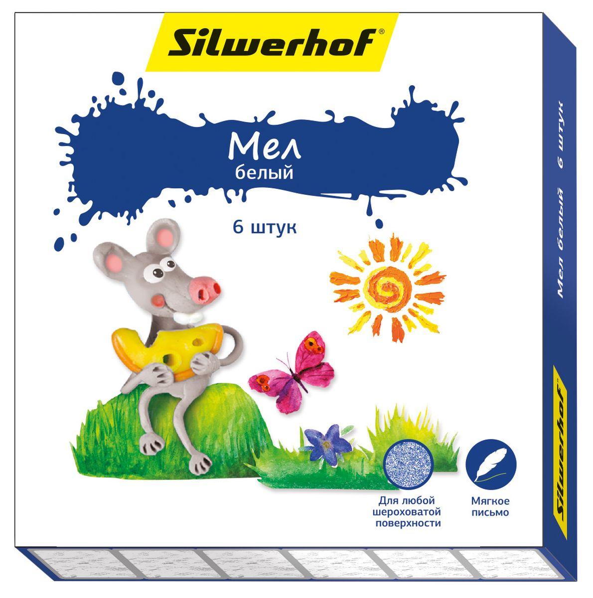 Silwerhof Набор белых мелков Пластилиновая коллекция 6 штFS-36055Набор мелков Silwerhof Пластилиновая коллекция предназначен для рисования на любой шероховатой поверхности. Рисование мелками развивает у ребенка моторику, творческое мышление и воображение.Отличная мягкость письма без особых усилий. Мел не царапает поверхность и имеет высокую кроющую способность.