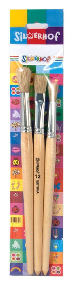 Silwerhof Набор кистей Emotions 3 штC13S041944Набор кистей Silwerhof Emotions предназначен для художественных, декоративных и оформительских работ. Такой набор станет прекрасным подарком любому юному творцу. Набор включает в себя 3 кисти из щетины (№7, №10, №12).