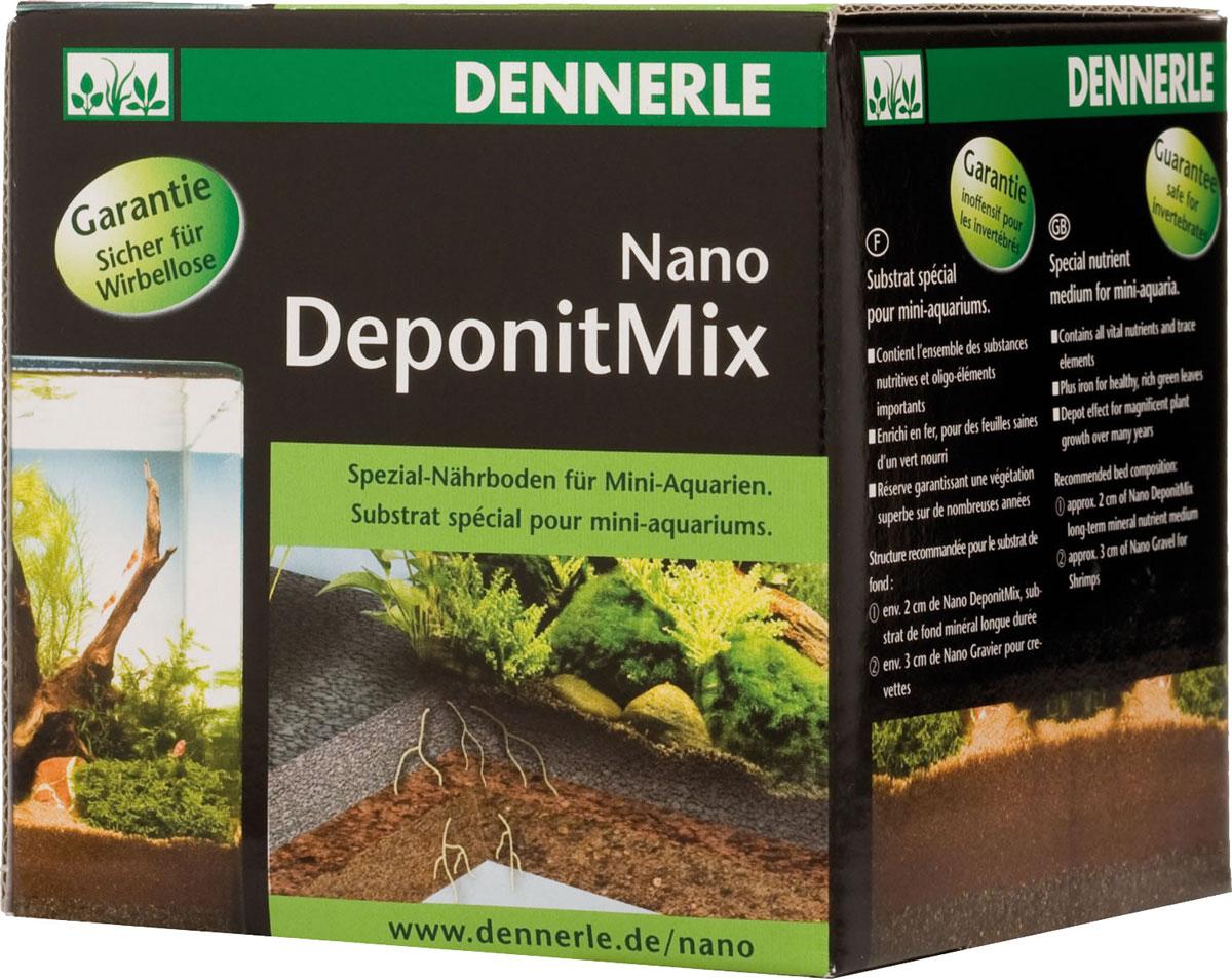 Подкормка грунтовая Dennerle  Nano Deponit Mix , для мини-аквариумов, готовая смесь, 1 кг - Аксессуары для аквариумов