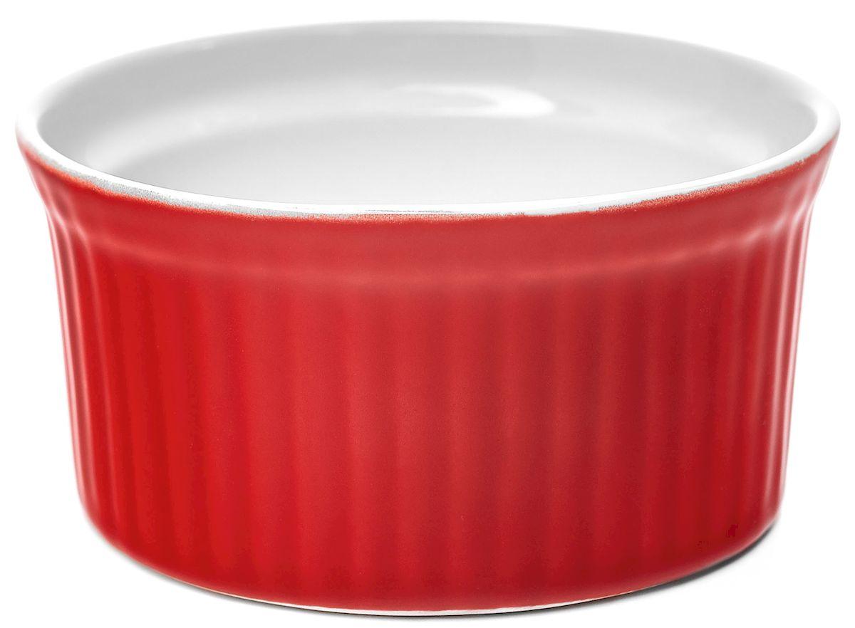 Горшок для запекания Walmer Classic, цвет: красный, диаметр 9 см12160Горшок для запекания Walmer Classic изготовлен из высококачественного фарфора, покрытого слоем глазури. Внешние стенки изделия декорированы рельефными вертикальными полосами. В таком горшочке удобно запекать рыбу, жаркое, жульен и другие блюда. Диаметр (по верхнему краю): 9 см. Высота стенки: 4,5 см.