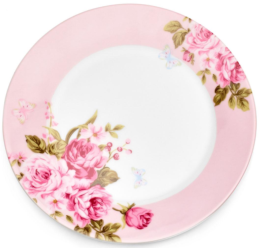 Тарелка десертная Walmer Mirabella, цвет: розовый, диаметр 19 смVT-1520(SR)Десертная тарелка Walmer Mirabella изготовлена из экологически чистого фарфора. Изделие оформлено цветочным орнаментом.Такая тарелка прекрасно подходит как для торжественных случаев, так и для повседневного использования. Идеальна для подачи десертов, пирожных, тортов. Она прекрасно оформит стол и станет отличным дополнением к вашей коллекции кухонной посуды.Можно использовать в посудомоечной машине и СВЧ.Диаметр (по верхнему краю): 19 см.Высота стенки: 2 см.