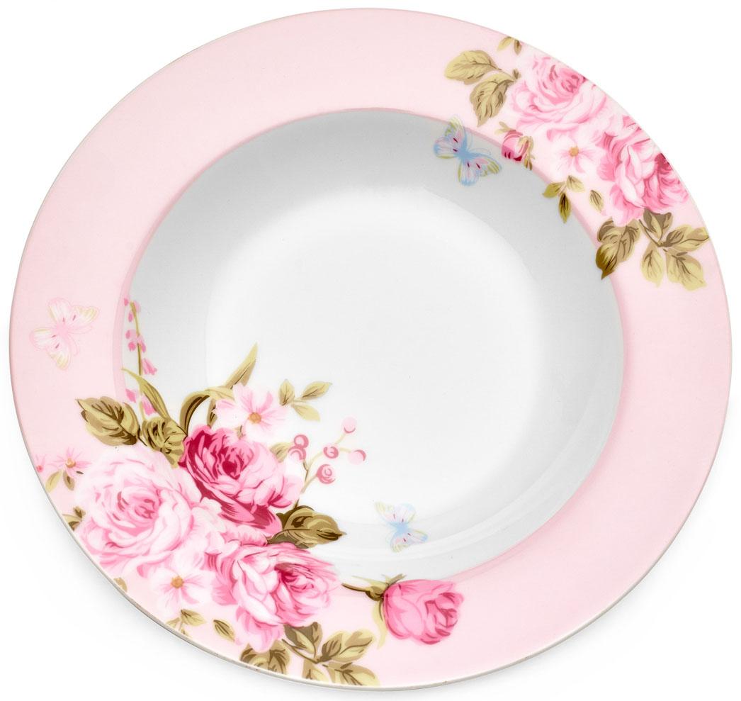 Тарелка суповая Walmer Mirabella Pink, цвет: розовый, диаметр 21,5 см115610Суповая тарелка Walmer Mirabella Pink изготовлена из экологически чистого фарфора. Изделие оформлено цветочным орнаментом.Такая тарелка прекрасно подходит как для торжественных случаев, так и для повседневного использования.Можно использовать в посудомоечной машине и СВЧ.Диаметр (по верхнему краю): 21,5 см.Высота стенки: 3,5 см.