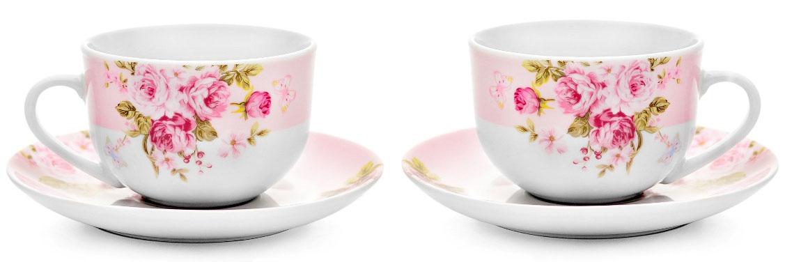 Набор из 2-х чайных пар Walmer Mirabella Pink, 2 х 220мл. W19870222W19870222