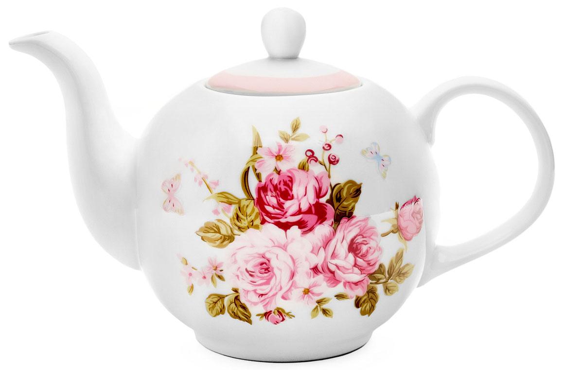 Чайник заварочный Walmer Mirabella, цвет: розовый, 1 л68/5/4Заварочный чайник Walmer Mirabella изготовлен из высококачественного фарфора. Гладкая поверхность обеспечивает легкую очистку. Чайник поможет заварить крепкий ароматный чай и великолепно украсит стол к чаепитию. Размеры чайника: 24,5 х 15 х 15 см.